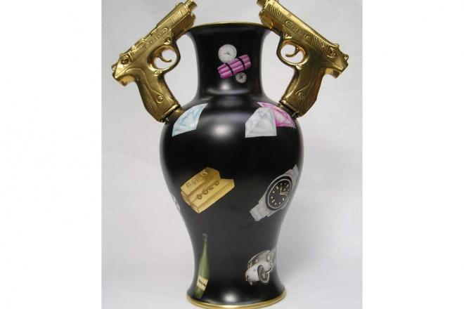 Caratteristiche tecniche: porcellana dipinta a mano a terzo fuoco Dimensione: h50x30x20 pezzo unico